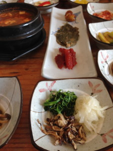 Fermented Soy Bean Stew and side dishes.